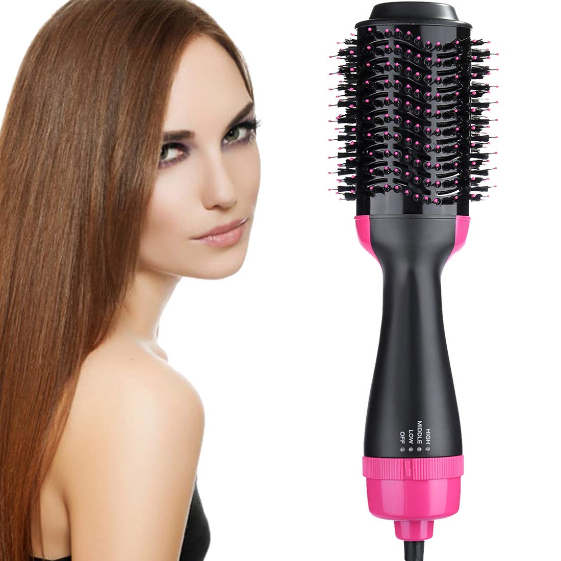 One Step Hair Dryer and Styler Volumizer, Hair Dryer Brush, Hot Air Brush, 3 in 1 Smooth Frizz with Ionic Technology Brush by ROUNDSQUARE by ROUNDSQUARE (Image #1)