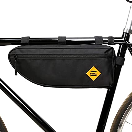 1x Water Resistant Cycling Corner Frame Triangle Bike Storage Bag Pouch Black TR Bike Accessories