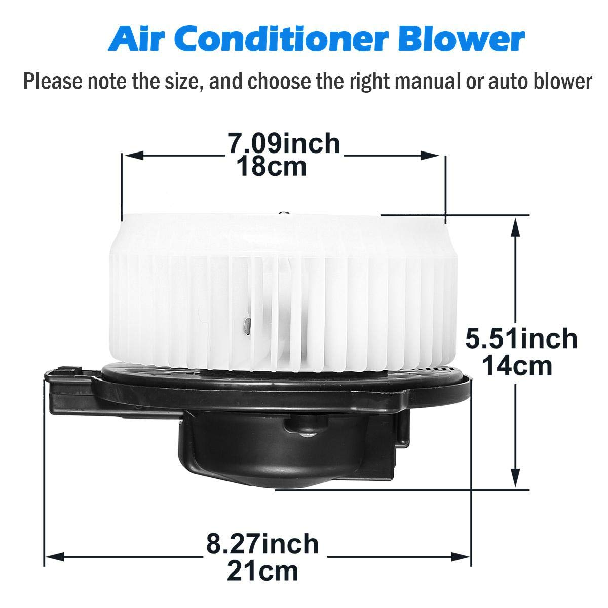 AUTEX HVAC Blower Motor Assembly Compatible with Acura RL 05-12,Honda Odyssey 2005-2010,Honda Ridgeline 06-07 Blower Motor Air Conditioner with Fan Cage 700192