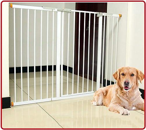 QIANDA Barrera Seguridad Niños Protector Escaleras Bebe Puerta Se Abre A Ambos Lados Ideal for Niños Y Mascotas, Extra Ancho Compuerta De Presión (Color : White, Size : 187-194cm): Amazon.es: Hogar