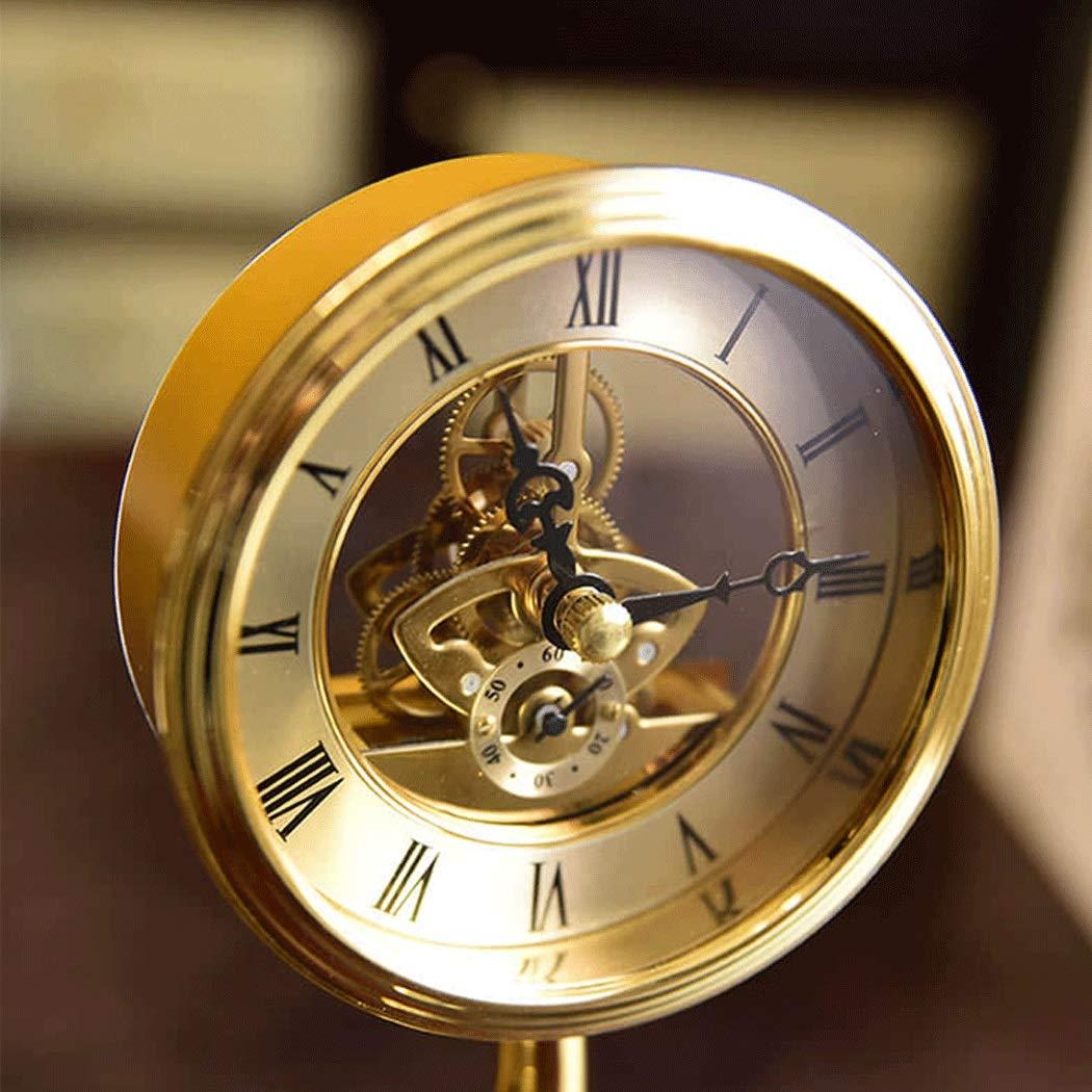 HONGNA Brass Small Elephant Clock European Clock Gear Rotating Table Clock Creative Living Room Study Decoration Crafts Ornaments Hollow Movement (Size : 1420cm) by HONGNA (Image #6)