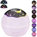 Moon Star/Colorful Undersea World Night Light Projector for Kids,HOMREE 8 Colors Rotating Baby Lights Nursery Lamp USB…