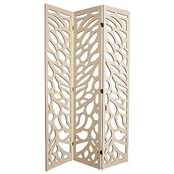 paravent intrieur paravent dco cloison de sparation art ajour 3 panneaux size 180x120 cm design impermable bois amazonfr cuisine maison