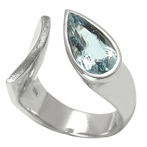 e63e6b45c1b4 Aqua Marin Anillo Plata Oro herrero trabajo (Plata de ley 925) - Anillo de  plata con aguamarina - Calidad con valor de Expertise  Amazon.es  Joyería