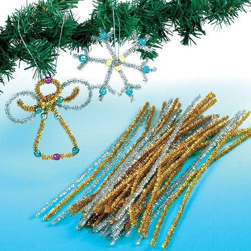Baker Ross Scovolini oro e argento decorativi per bambini (confezione da 72)