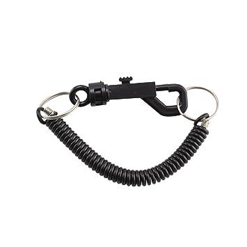PetHot Espiral llave cadena retráctil clip en el anillo ...