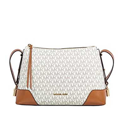 53b600c740891 Image Unavailable. Image not available for. Color  Michael Kors Crosby  Medium Signature Logo Print Messenger Bag ...