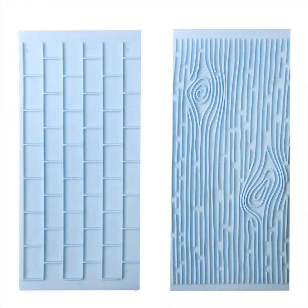 Tofree 3D Dry Wall modello plastica stampo castello pietra corteccia fondant cake Molds, plastica, Bark, 14 * 6.9cm