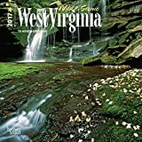 West Virginia, Wild & Scenic 2017 - 7inch x 7inch USA Hanging Mini Square Wall Photographic America State Nature Planner Calendar