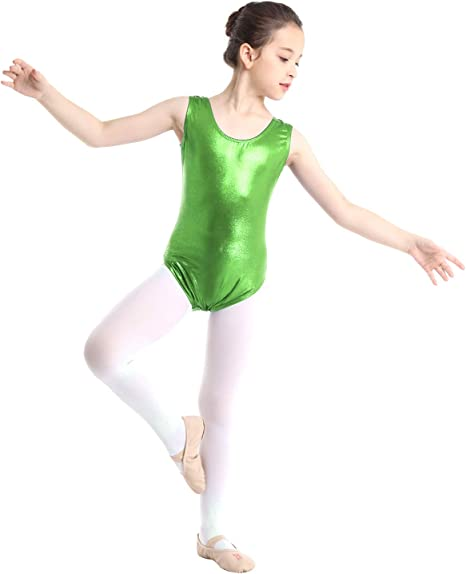 TiaoBug Kids Girls Dancers Sleeveless Sparkly Gymnastics Leotard Ballet Dance Costumes