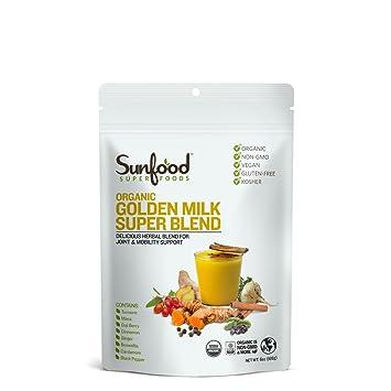 Sunfood Golden Milk Super Blend, 6oz, Organic