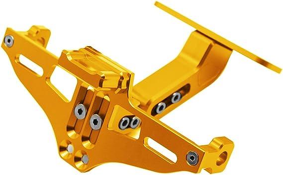 Universal Cnc Aluminum Motorrad Kennzeichenhalter Halter Mit Lizenz Licht Für Mt 01 Mt 03 Mt 07 Mt 09 Mt 10 Yzf R1 R3 R6 Für Cbr600 Cbr750 Cbr1000 Gold Auto
