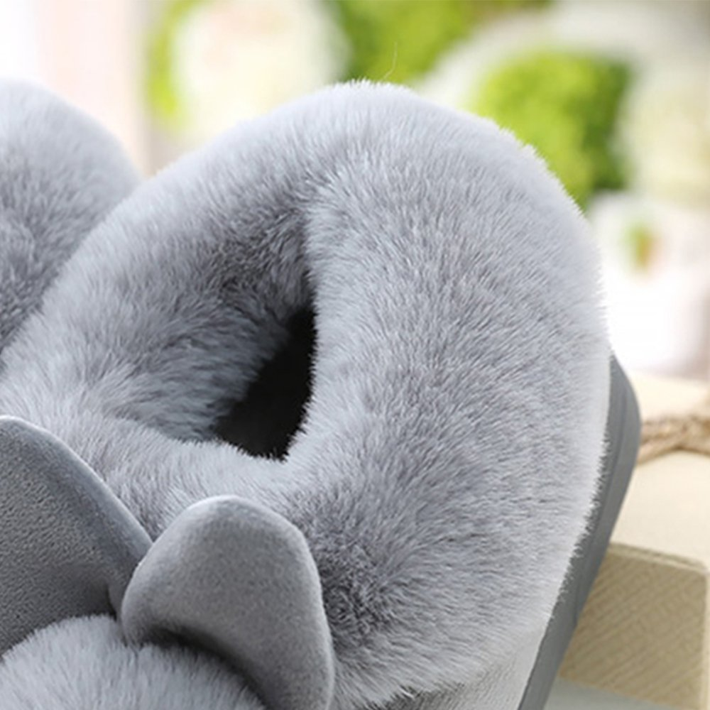 JACKSHIBO Womens Fur Home Casual Slippers,Soft Winter Warm Cute Cartoon House Slippers by JACKSHIBO (Image #4)