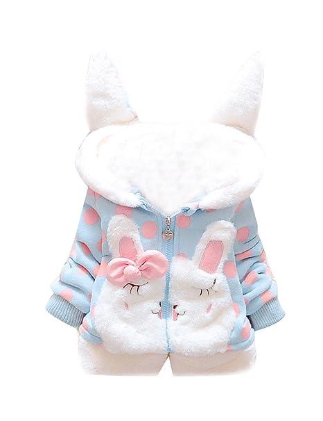 Tkria Bebé Niñas Chaqueta Sudadera con Capucha Manga larga Polca Punto Abrigo Hoodies: Amazon.es: Ropa y accesorios