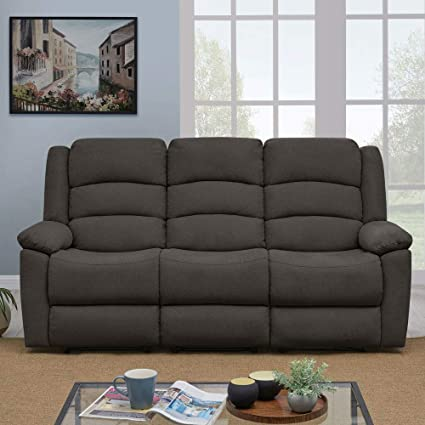 Strange Furny Carson U Shaped 3 Seater Fabric Sofa Recliner Box Springs And Side Paddle Comfort With Linen Fabric Dark Grey Pdpeps Interior Chair Design Pdpepsorg