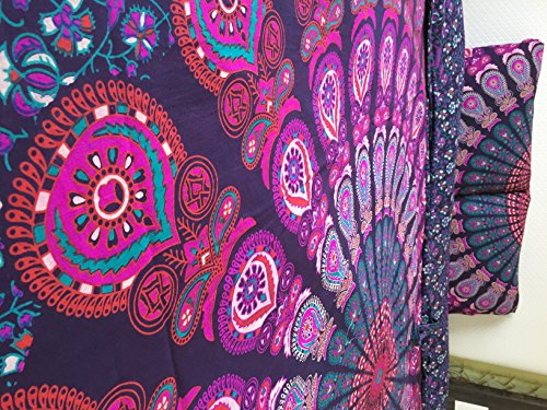 New-Exclusive-Range-of-Queen-Size-Duvet-Cover-Set-With-Pillow-Covers-By-The-Boho-Street-Indian-Reversible-Duvet-Cover-Quilt-Cover-Flower-Coverlet-Bohemian-Doona-Cover-Handmade-Duvet-Cover-82-x-92