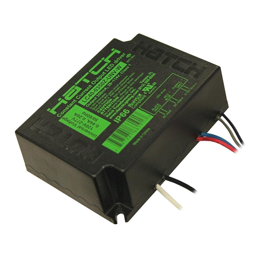 Hatch 40350-40 Watt 120/277 VAC Input Constant Current LED Driver (LC40-0350Z-UNV-W)