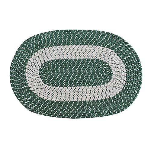 Braided Rug, Traditional Rustic Reversible Oval Braided Accent Rug 20''WX30''L, Washable Braided Indoor Outdoor Area Rug Floor Carpet for High Traffic Areas -