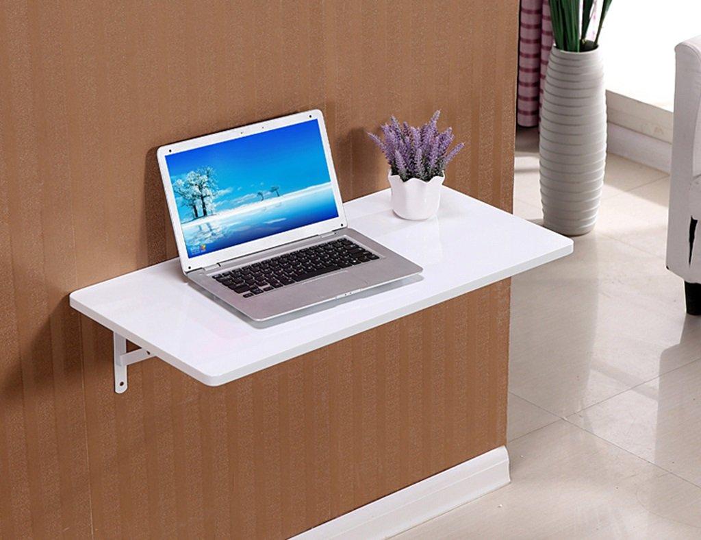 ダイニングテーブル壁掛けラップトップデスク壁掛けテーブルラーニングテーブルペイント折り畳み式コンピュータデスクカラーサイズオプション ( 色 : 白 , サイズ さいず : 80*40cm ) B07B6ZNHRG 80*40cm|白 白 80*40cm