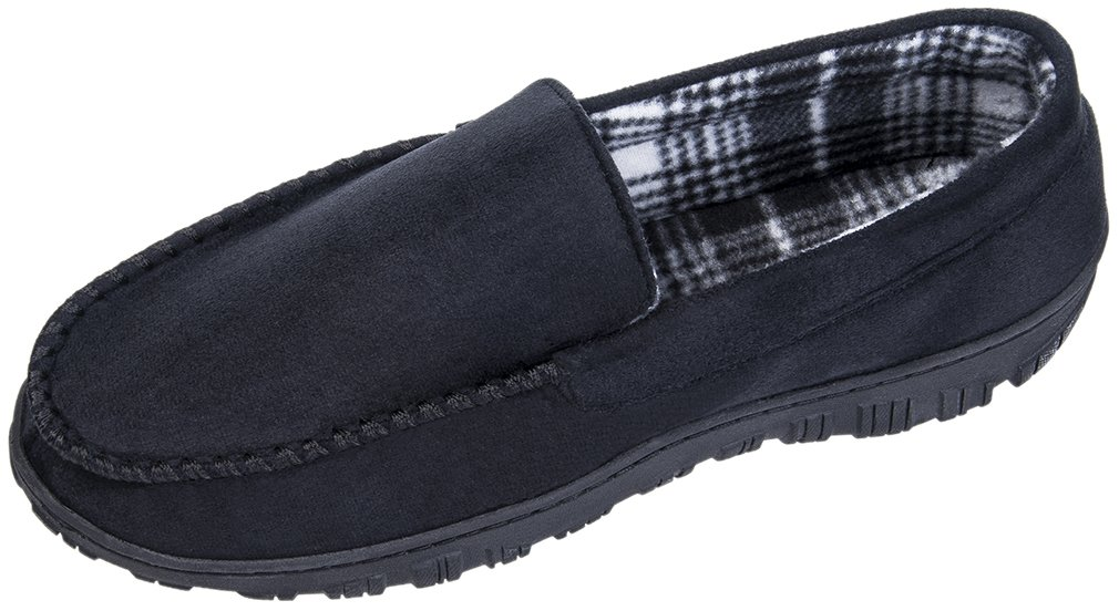MIXIN Men's Casual Anti Slip Rubber Sole Indoor Outdoor Slip On Driving Loafers Moccasins Slippers Shoes Black Size 10 M