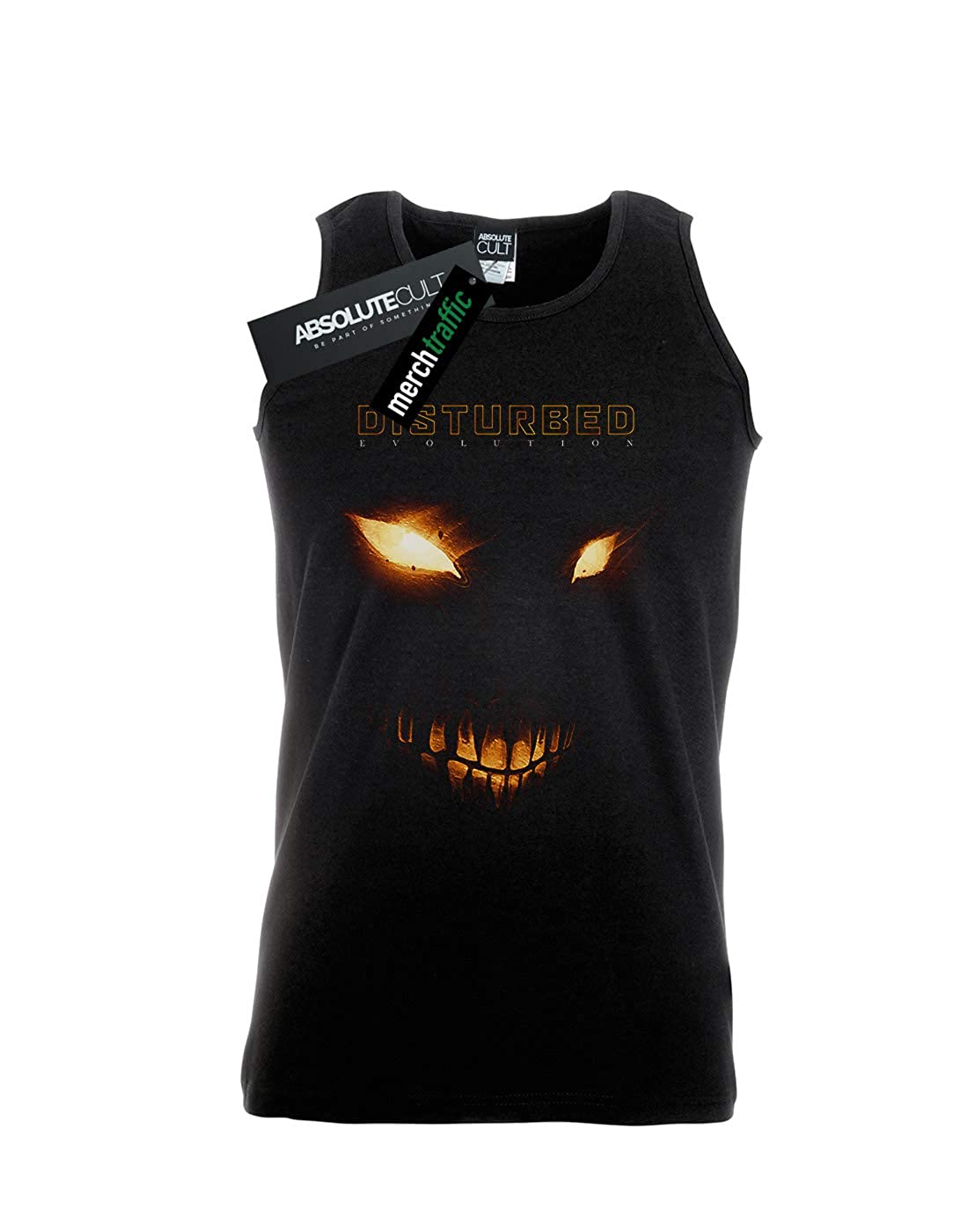 Absolute Cult Disturbed Mens Bright Eyes Tank Top