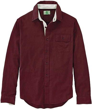 Timberland - Camisa de Manga Larga para Hombre, Color Granate y Rojo - Rojo - Small: Amazon.es: Ropa y accesorios