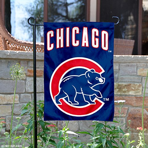 Price comparison product image Chicago Cubs Walking Bear Double Sided Garden Flag