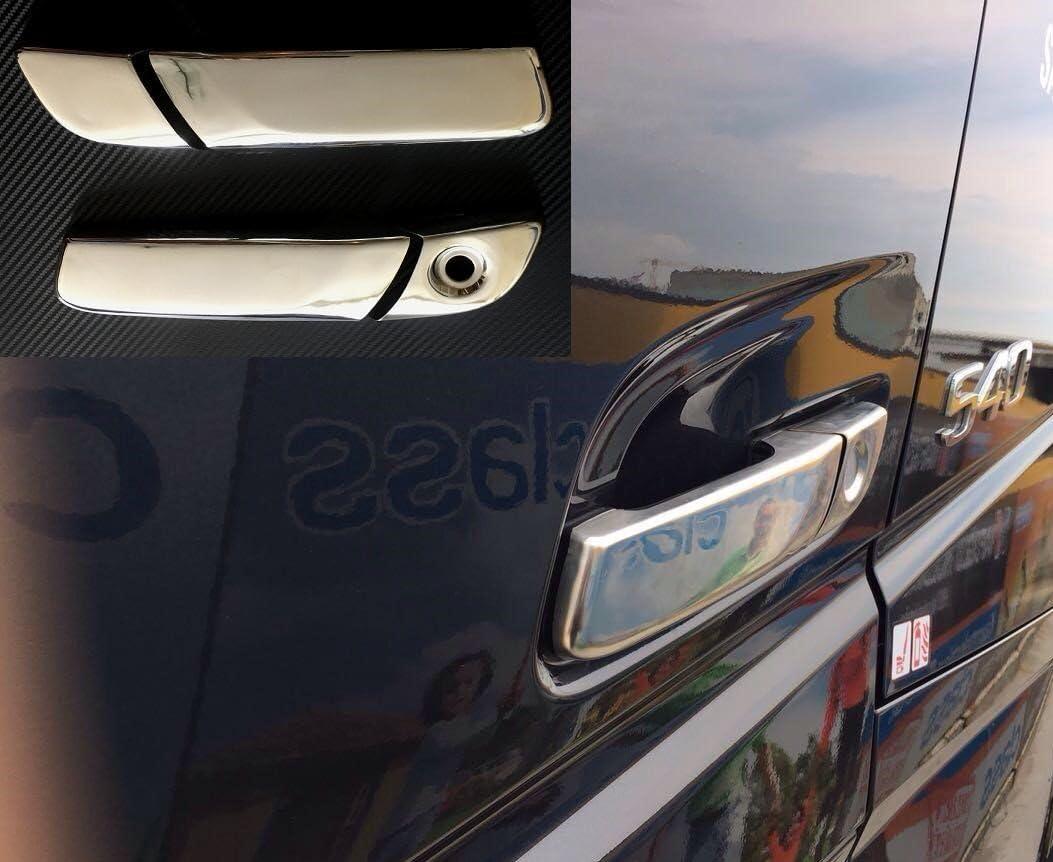 camions seulement Conduite /à gauche Lot de 4/pi/èces 3d couvertures de poign/ée de porte en acier inoxydable pour FH4/2013/