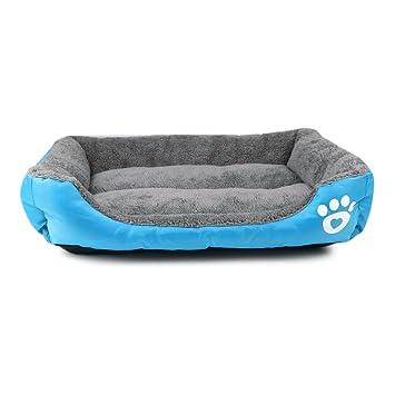Cama de perro para mascotas, Saco de dormir rectangular super suave - Adecuado para perros grandes, medianos y pequeños y gatos obesos (Azul, M): Amazon.es: ...