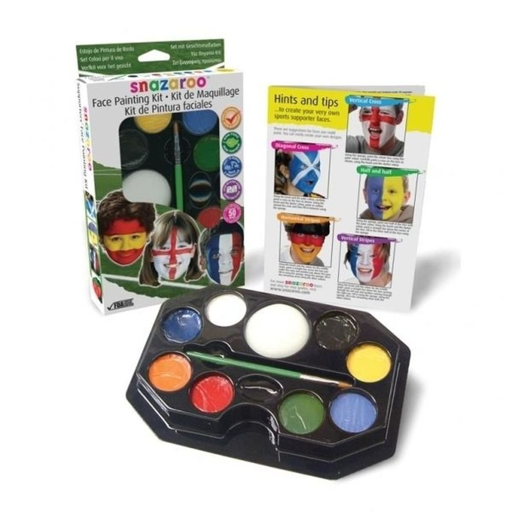 NANA'S PARTY Home Collection Nana 's Party Versand Schnell Snazaroo Supporter 's Face Paint Kit (Flaggen/Land/Fußball/Sport) (1180130)