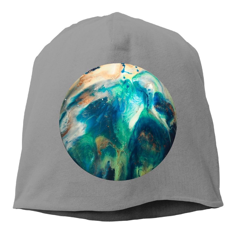 Reteone Fashion Solid Color Planet Cool Pattern Headband for Unisex Black One Size