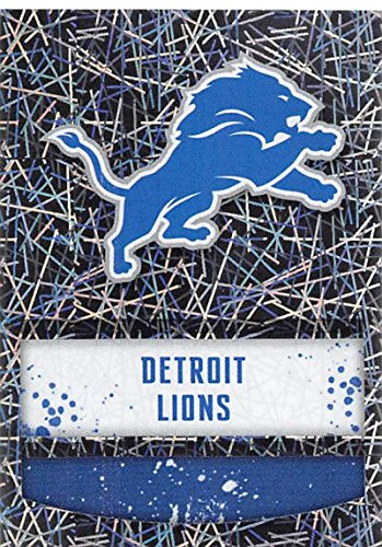 2018 Panini NFL Stickers Collection #292 Detroit Lions Logo Detroit Lions Foil Official Football Sticker ()