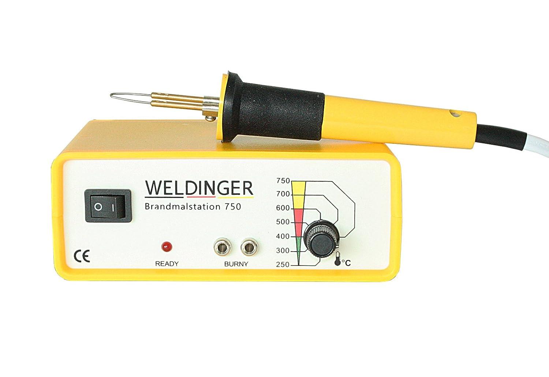 WELDINGER Brandmalstation BS 750 - regelbare Brennerstation - Brandmalgerä t (40 W) DINGER Germany GmbH