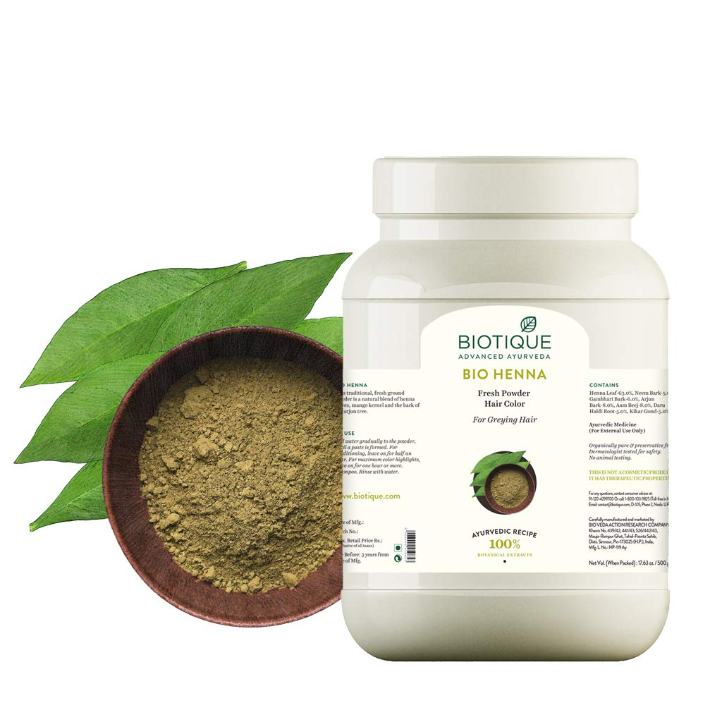 Buy Biotique Bio Henna Leaf Hair Color 500g Online At Low Prices In