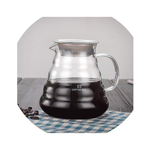 V60 - Cafetera de goteo para jarra de café (360 ml, 600 ml, 800 ml ...