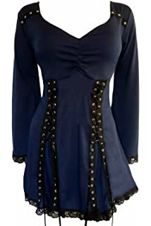 8071c9fea42 Dare to Wear Electra Corset Top  Victorian Gothic Steampunk Plus Size Women s  Shirt for Everyday