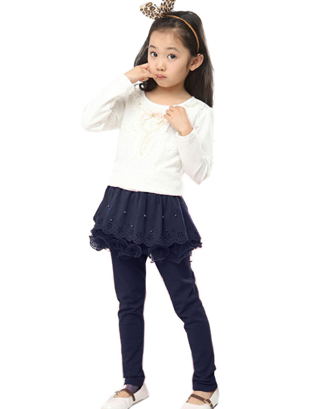 Arshiner Girls Warm Tutu Leggings in Cotton for School Play by Arshiner (Image #4)
