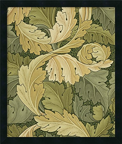 Framed Canvas Wall Art Print | Home Wall Decor Canvas Art | Wallpaper Design with Acanthus/Woodland Colours, 1875 by William Morris | Modern Decor | Stretched Canvas Prints