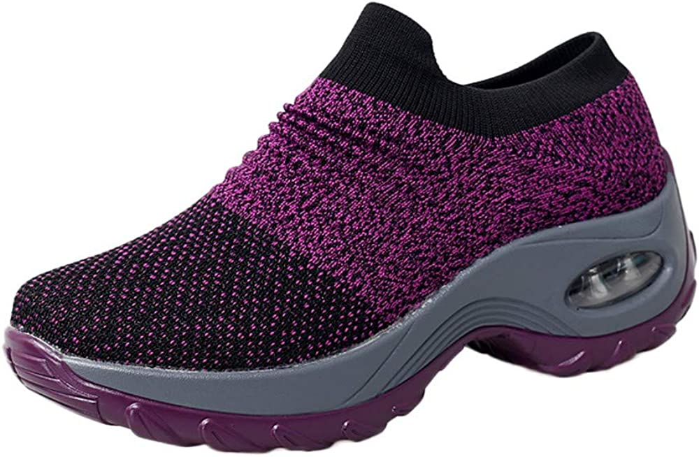 Casual Ladies Daily Shoes Miuye yuren Thick Bottom Platform Shoes Air Cushion Womens Fashion Sneaker Running Shoe