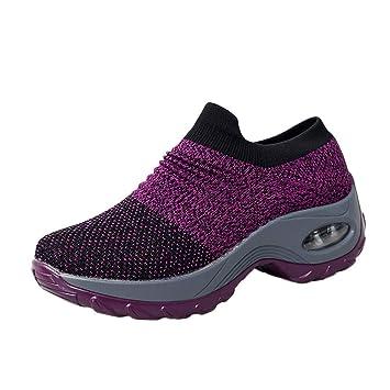 Zapatos de Malla Zapatos de Plataforma Inferior Gruesa Cojín ...