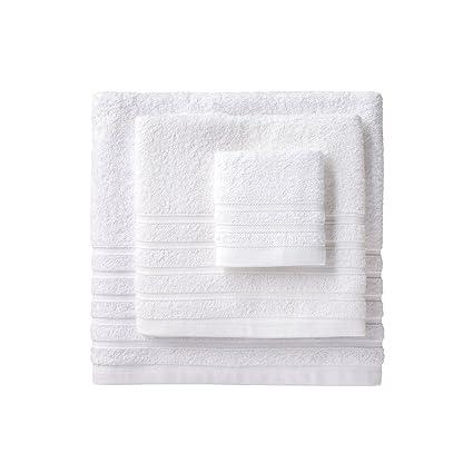 Barceló Hogar 05040010001 Juego de 3 toallas para bidé, lavabo y ducha, modelo Diamante