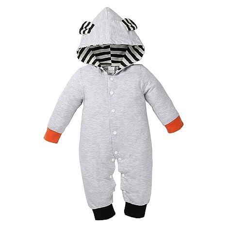 sharplace bebé recién nacido Niñas Niños Algodón Largo Pelele Bodysuit Mono Ropa Trajes Set as picture