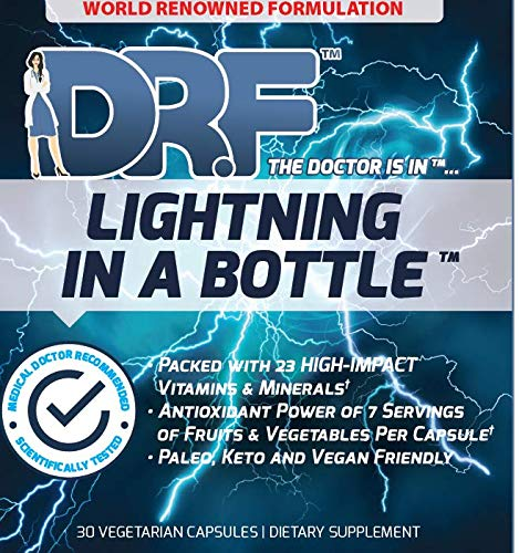 Lightning in a Bottle by Dr. Farrah World Renown Medical Doctor | 23 High Impact Vitamins & Minerals | Antioxidant Power of 7 Servings of Fruit & Vegetables | Paleo, Keto, & Vegan Friendly