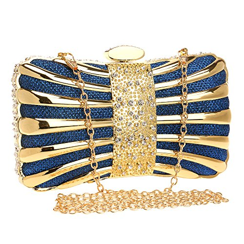Bow Women Clutch Metal For Wedding Clutches Purse Bags Evening Blue Handbags Evening Bag tAqUEvAw