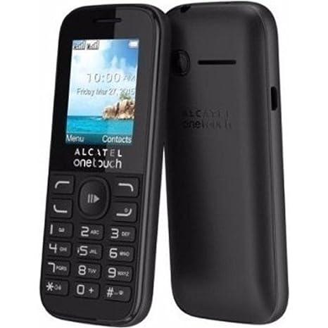 Alcatel OneTouch 1052G Teléfono Móvil Básico Libre con SMS/Radio FM/Bluetooth/Cámara para Fotos y Vídeos, color Negro