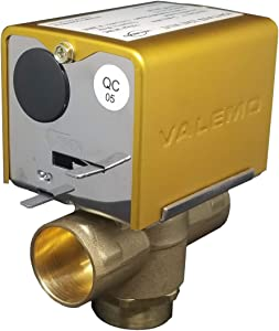 """Valemo V3417-A1S Motorized Zone Valve, 3-way, 1"""" Sweat, Normally Closed, 24 VAC with End Switch"""