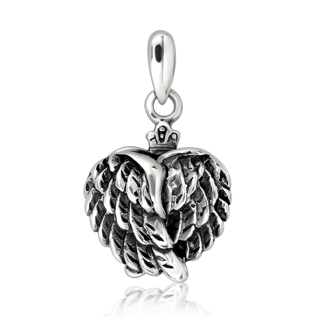WithLoveSilver 925 Sterling Silver Charm My Angel Heart Openable Wings Pendant