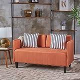 Christopher Knight Home 301060 Sullivan Fabric Loveseat, Orange