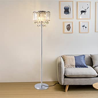 hsyile lighting ku300171 cozy elegant modern creative crystal floor