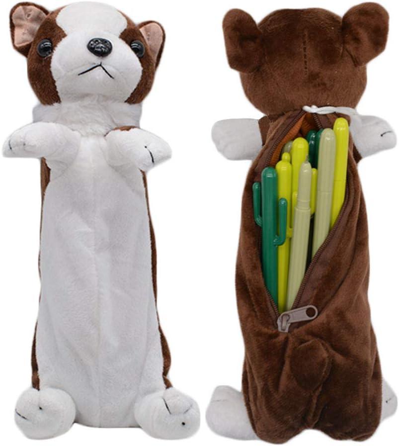Bolso de la pluma del lápiz de la forma del perro 3D, regalos suaves lindos del juguete de la felpa para los niños (Border collie)
